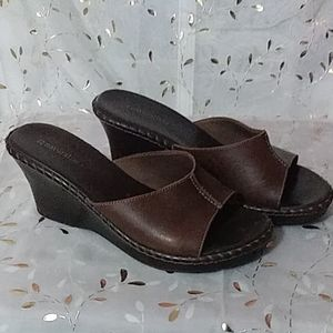 Naturalizer Chocolate leather mule